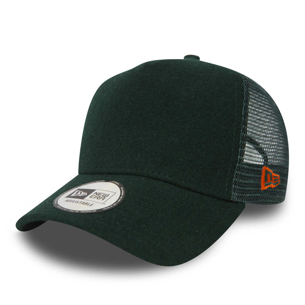 New Era Winter Utility Green Trucker
