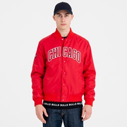 Chicago Bulls Team Wordmark Varsity Jacket
