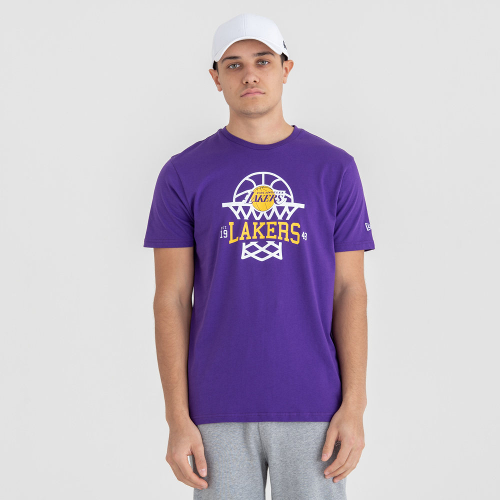 260dc15ea5e Los Angeles Lakers Net Logo Tee