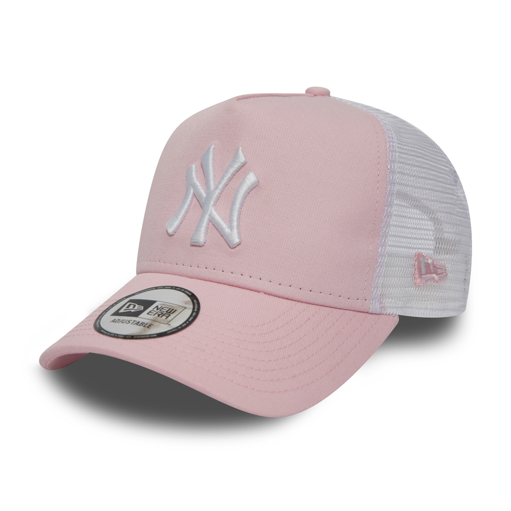 8c11edcfaec ... New York Yankees Essential Pink A Frame Trucker