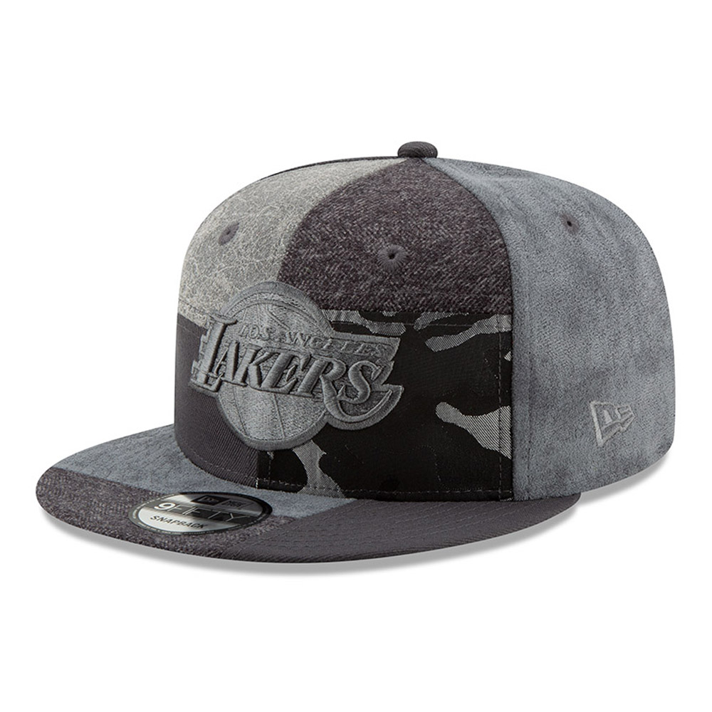 5c7ce500db3 Los Angeles Lakers Premium Patched 9FIFTY Snapback