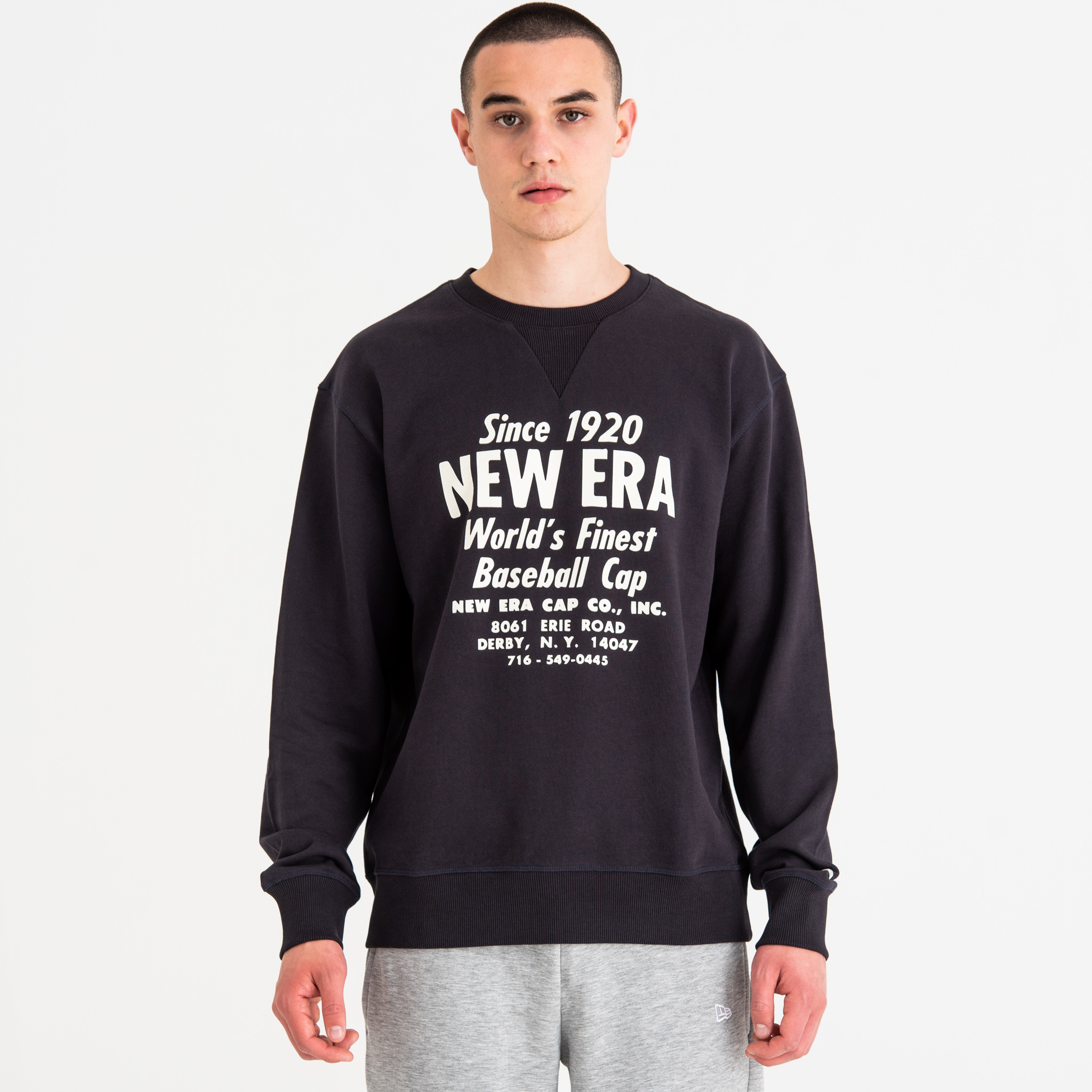 New Era Established Navy Crew Neck