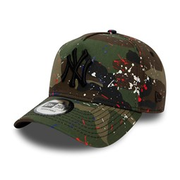 New York Yankees Splash Camo A Frame Trucker