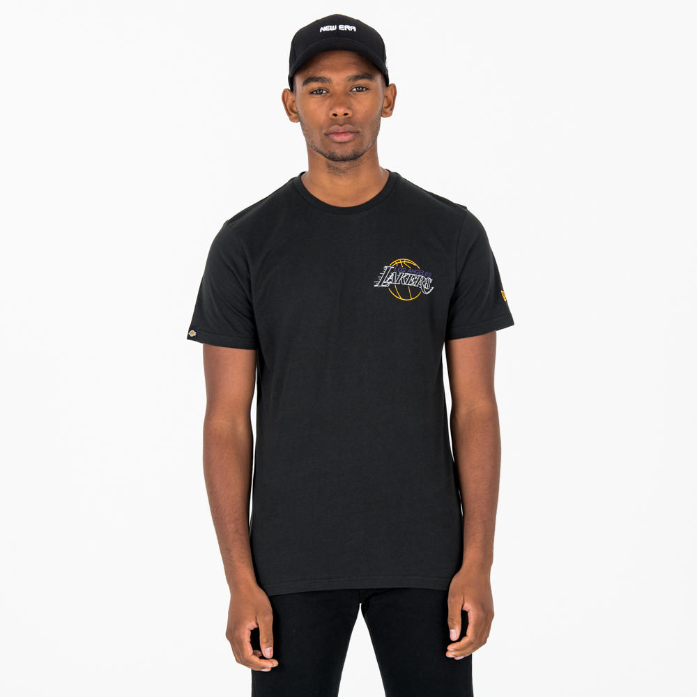 Los Angeles Lakers Neon Lights Black Tee