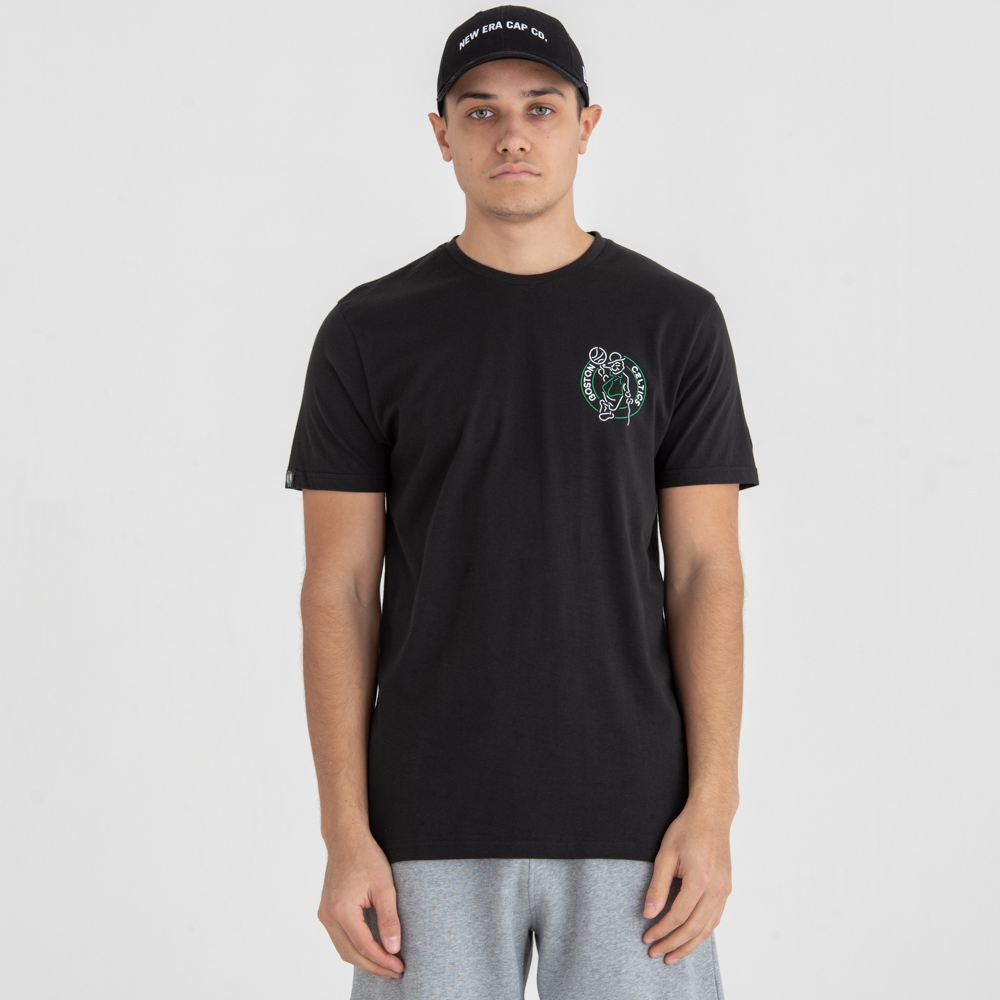 Boston Celtics Neon Lights Black Tee