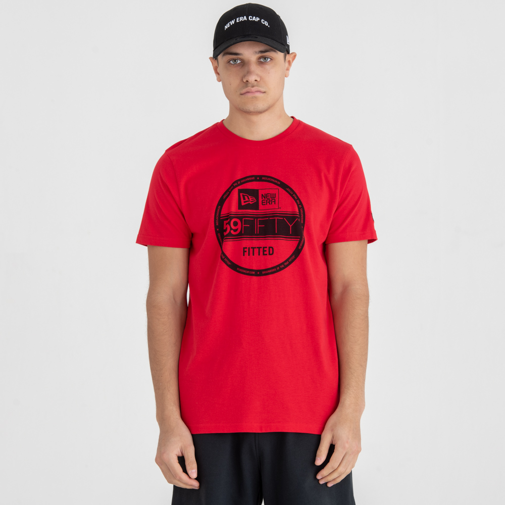New Era Essential Visor Sticker Red Tee
