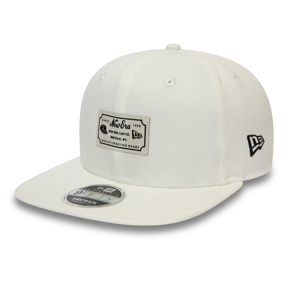 New Era Script Patch White 9FIFTY Snapback
