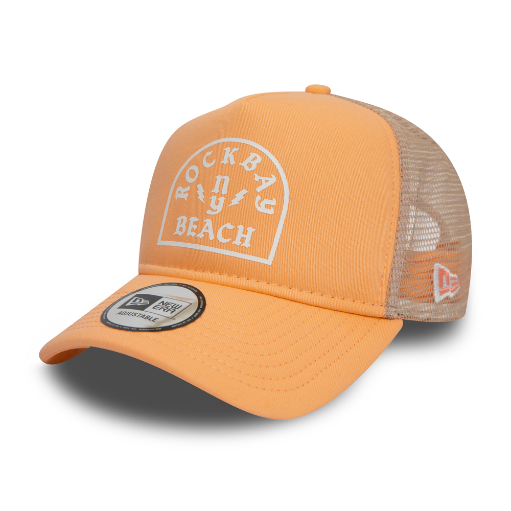 New Era Rock Bay Beach Peach A Frame Trucker