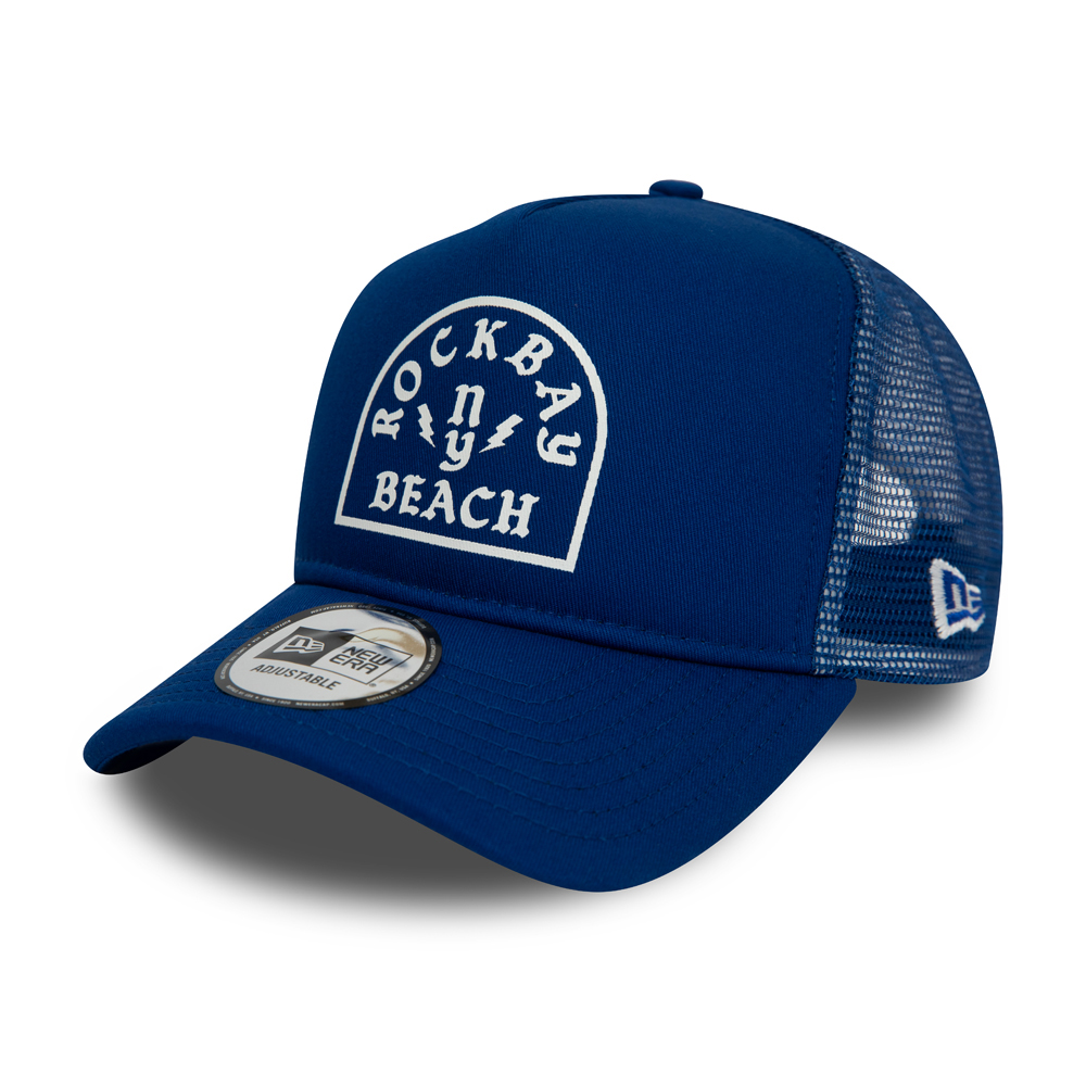 New Era Rock Bay Beach Blue A Frame Trucker