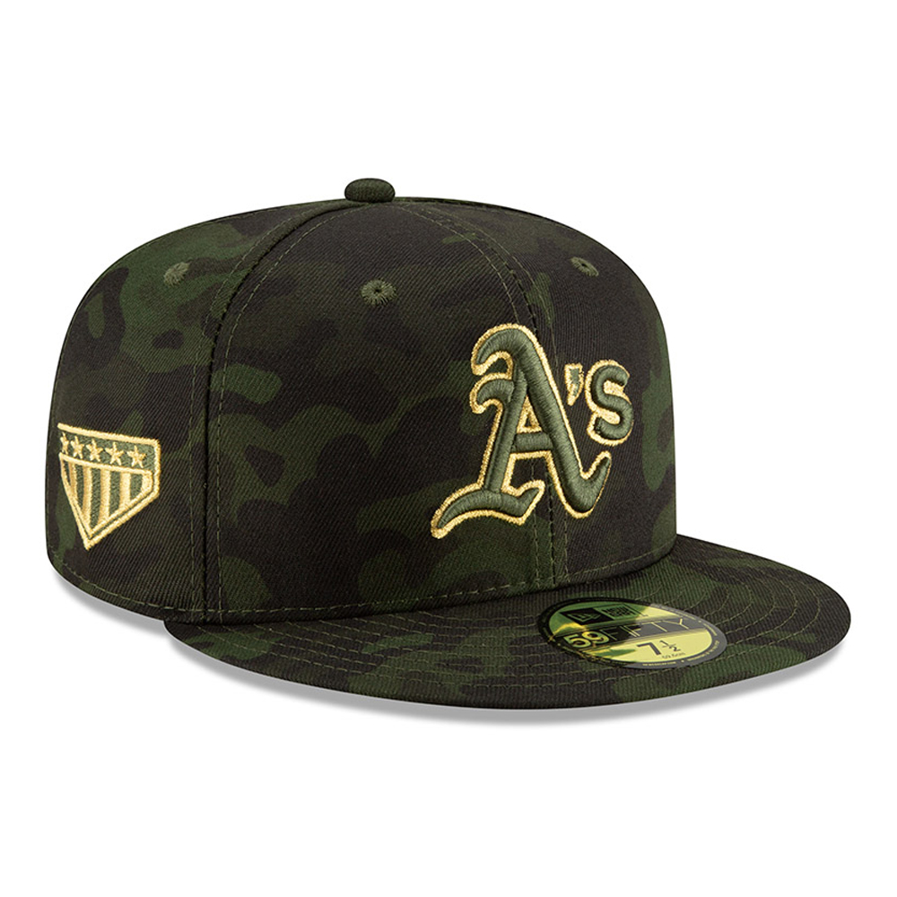 664185a138b3f Oakland Athletics Armed Forces Day On Field 59FIFTY