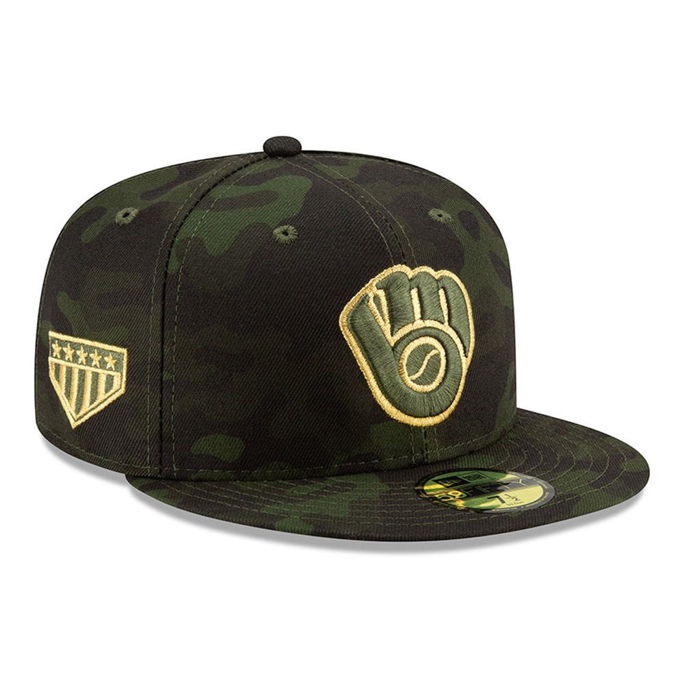 Milwaukee Brewers Armed Forces Day On Field 59FIFTY