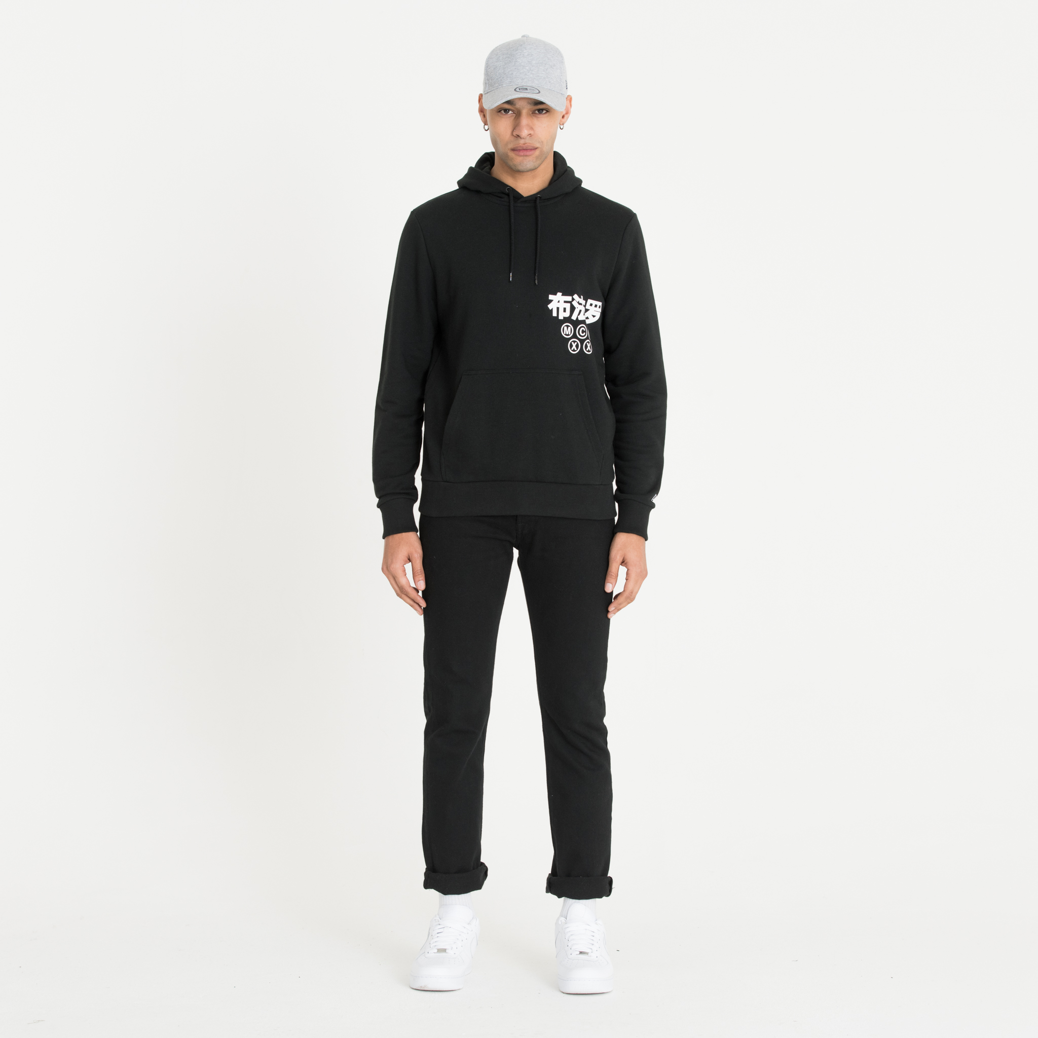 New Era Graphic Wordmark  Black Hoodie