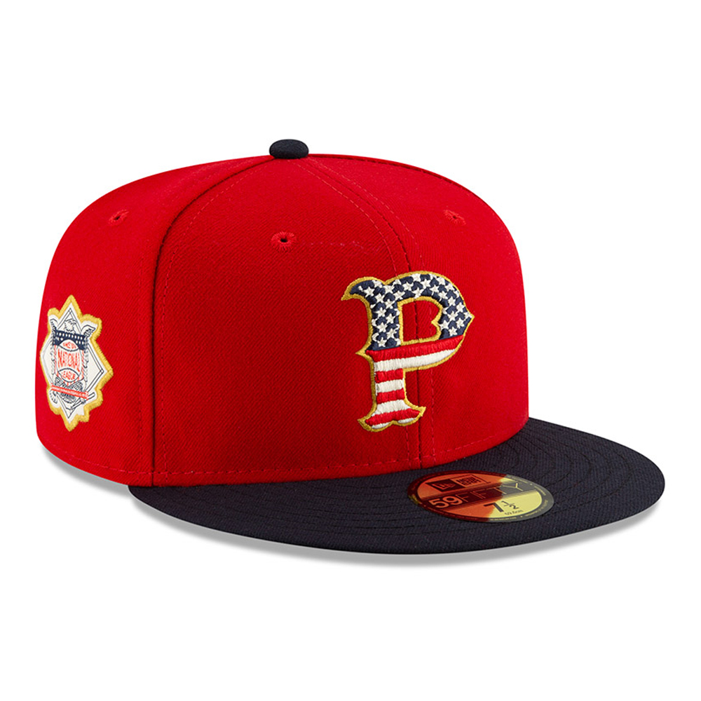 Pittsburgh Pirates Independence Day Red 59FIFTY
