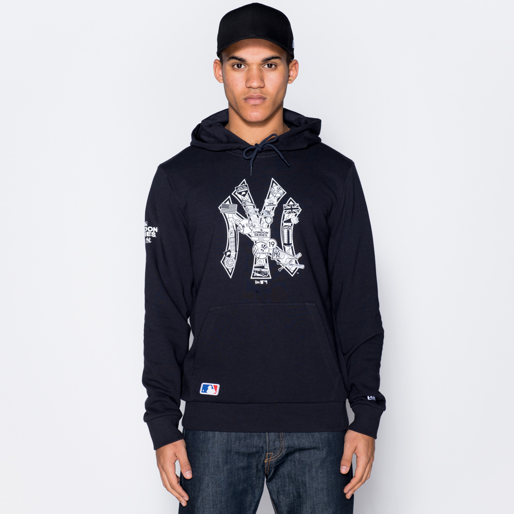 New York Yankees Graphic Infill Pullover Hoodie