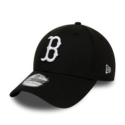 Boston Red Sox Black and White 39THIRTY Cap