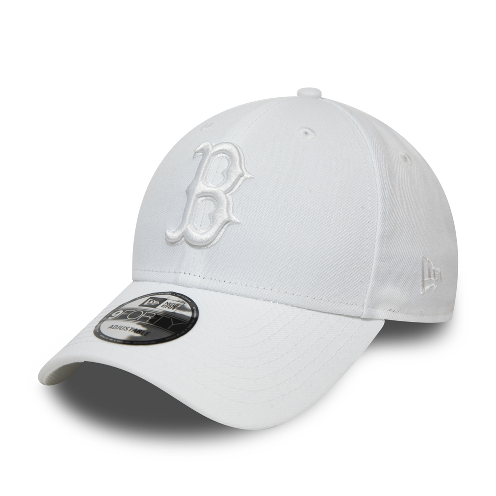 Boston Red Sox White on White 9FORTY Snapback Cap