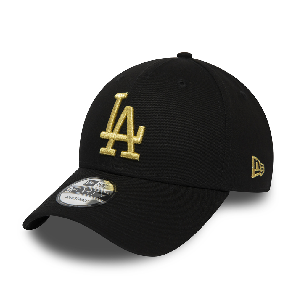 Los Angeles Dodgers Black 9FORTY Snapback Cap