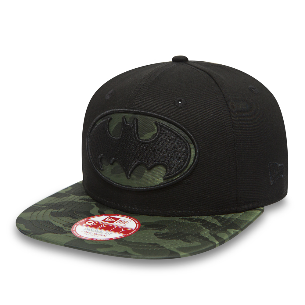 Officially Licensed Batman Signal Logo Embroidered Adjustable Size Snapback Cap