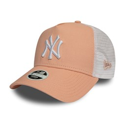 New York Yankees Essential Womens Blush A Frame Trucker