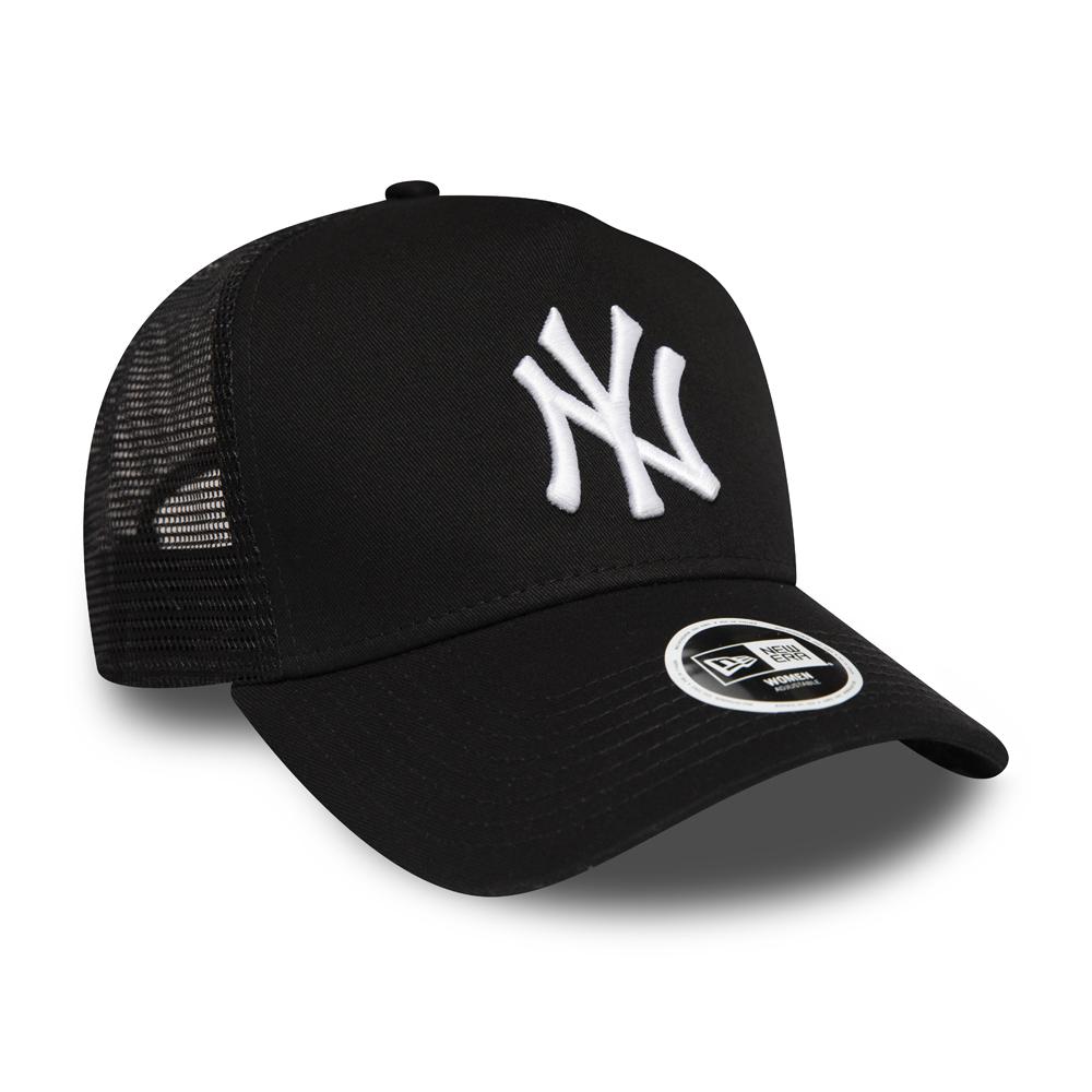 NEW ERA CHICAGO BULLS BASEBALL CAP.9FORTY BLACK A FRAME ESSENTIAL TRUCKER HAT 9S