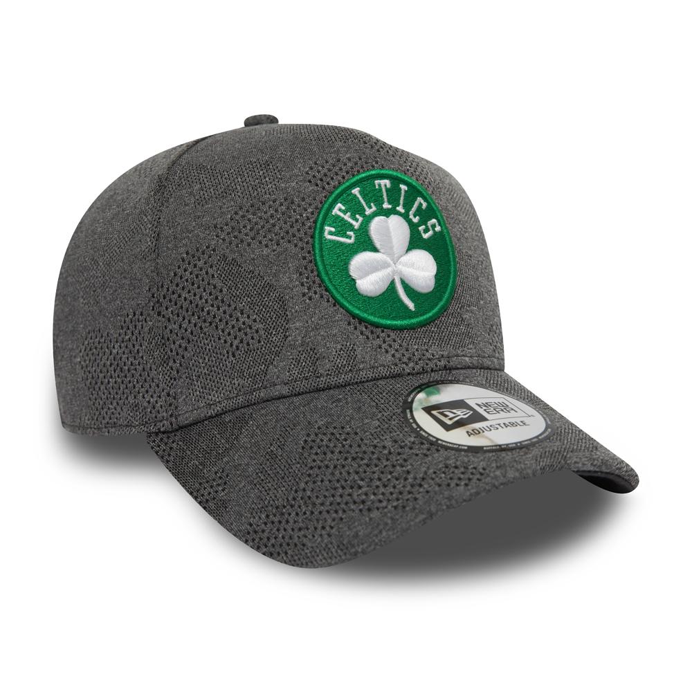Boston Celtics New Era Engineered Plus Black Trucker Cap