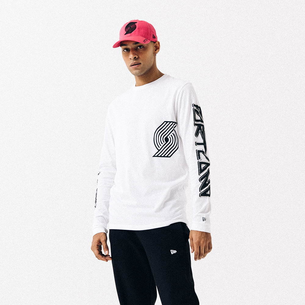 Portland Trail Blazers White Long Sleeve Tee