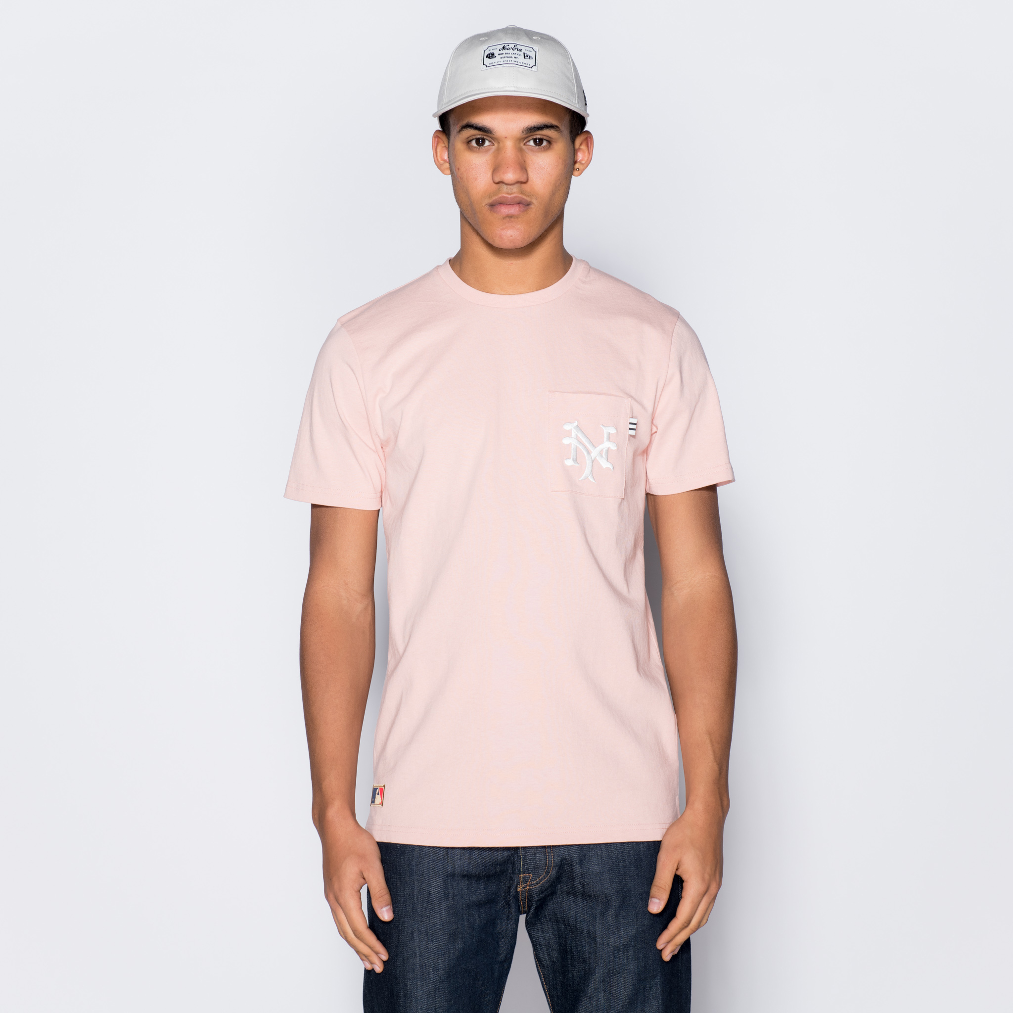 New York Giants Vintage Pocket Logo Pink Tee