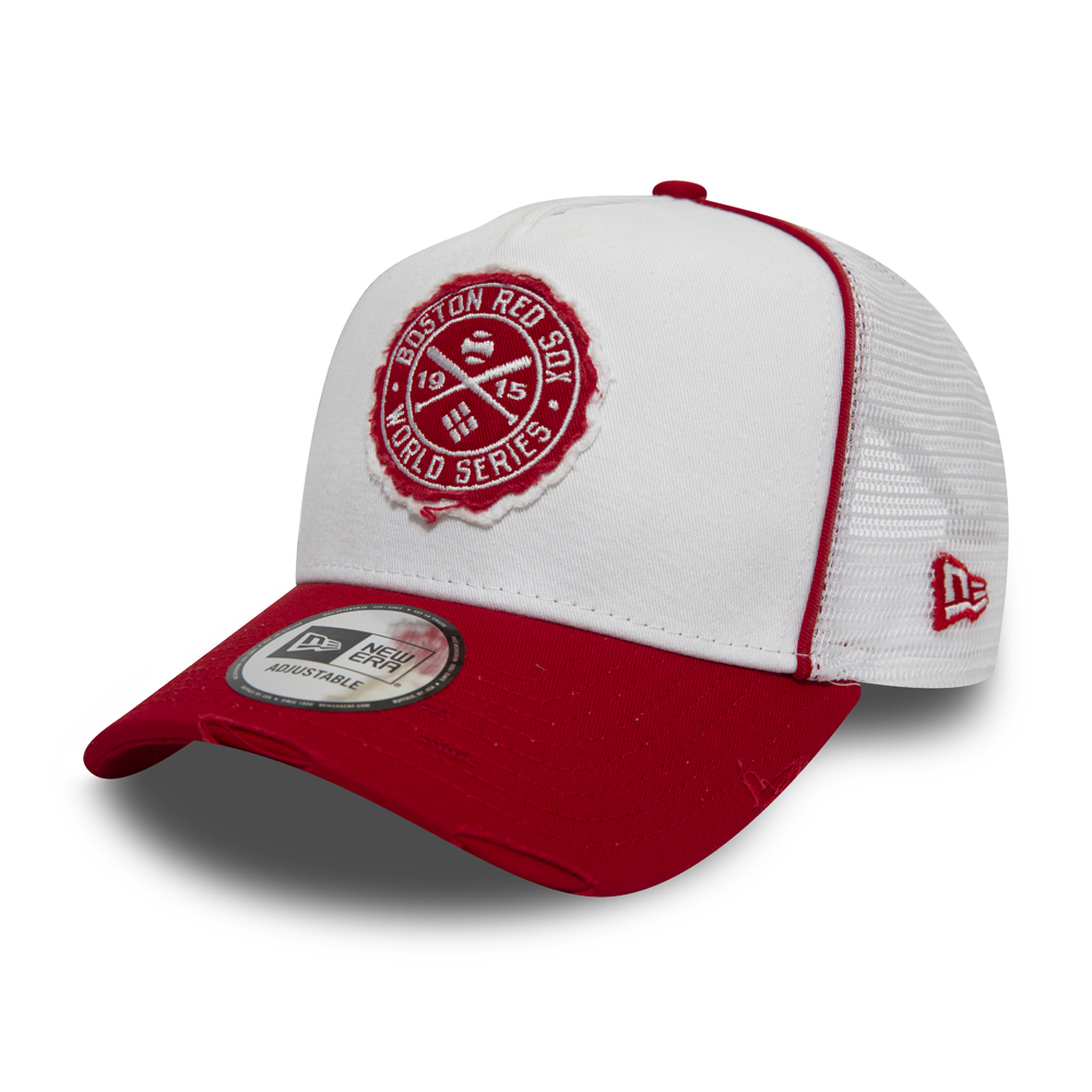 Boston Red Sox World Series Patch A-Frame Trucker