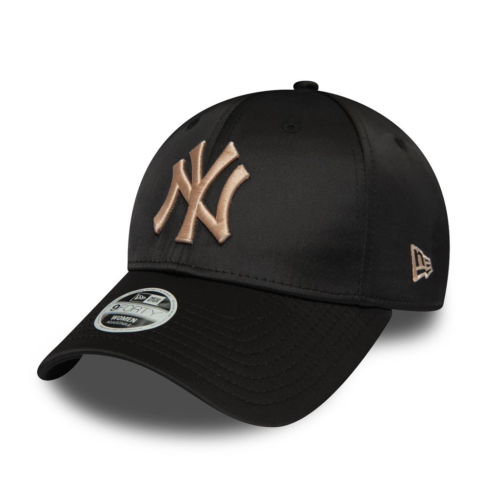 New York Yankees Womens Black Satin 9FORTY