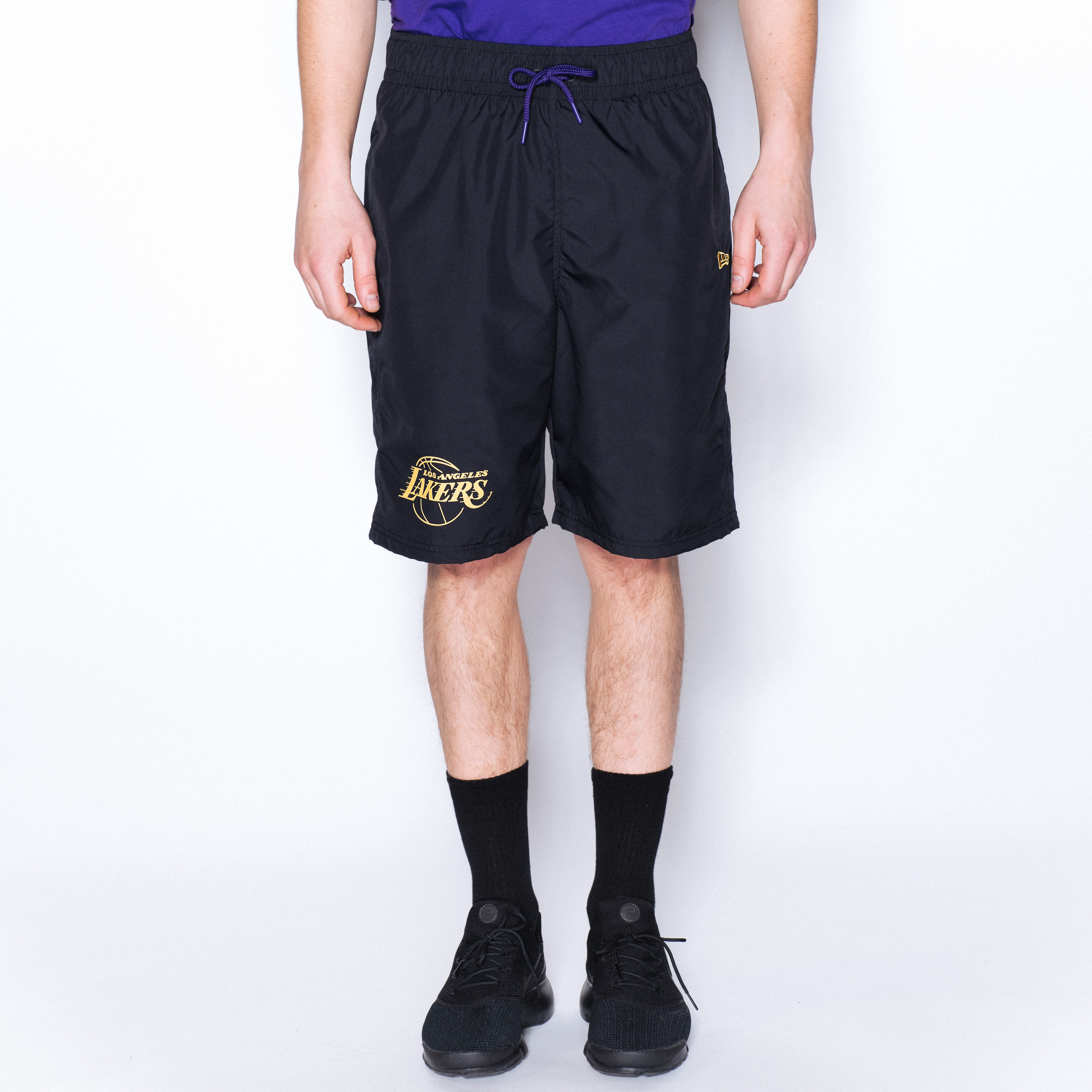 Los Angeles Lakers Established Date Black Shorts