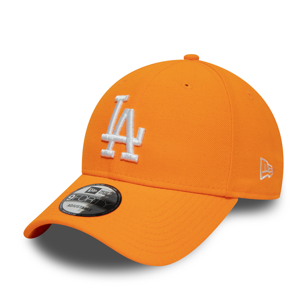 Los Angeles Dodgers White Logo Neon Orange 9FORTY Cap