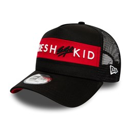 Fresh Ego Kid Colour Block Black A Frame Trucker Cap