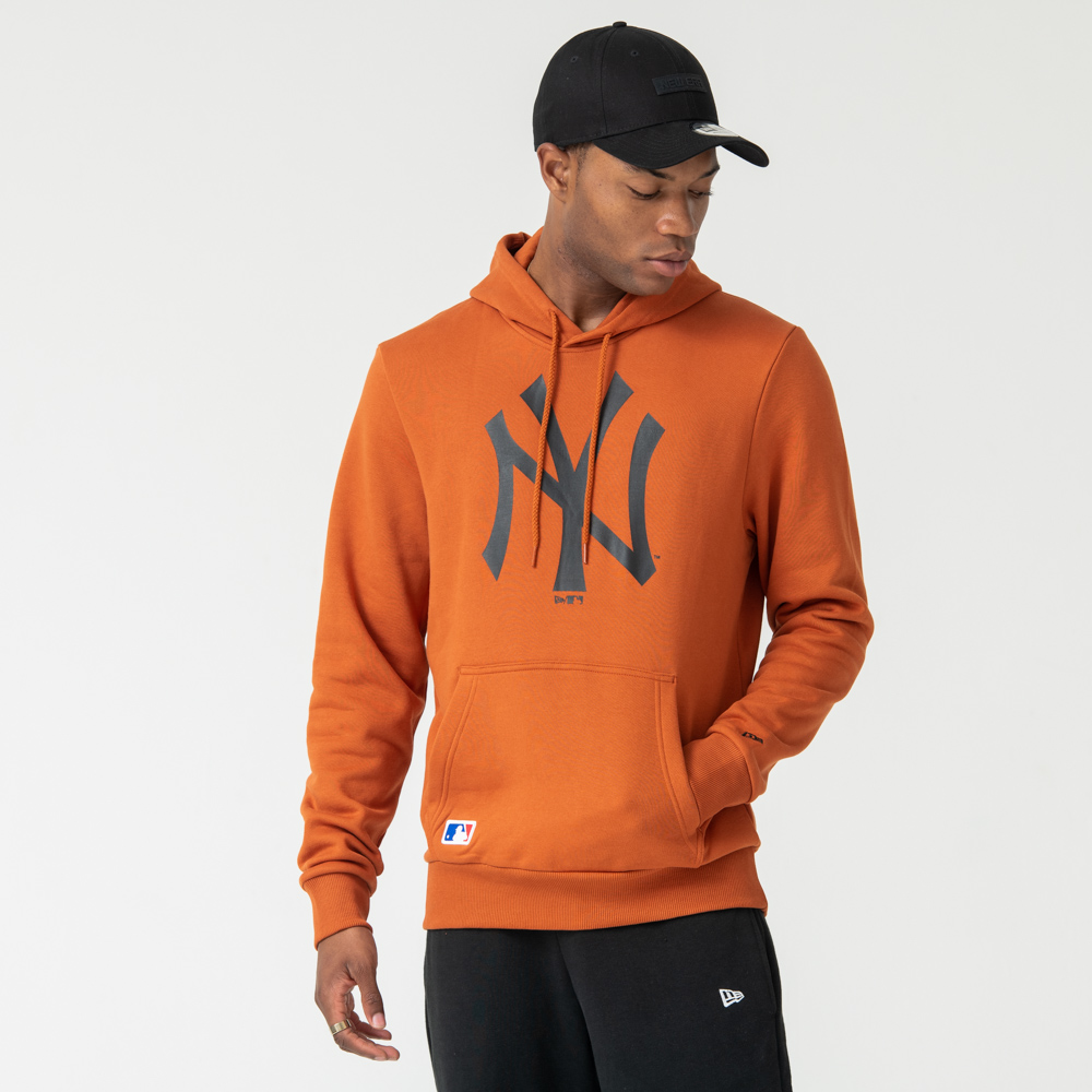 New York Yankees Logo Rust Pullover Hoodie