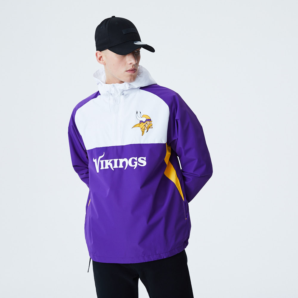 Minnesota Vikings Colour Block Windbreaker Jacket