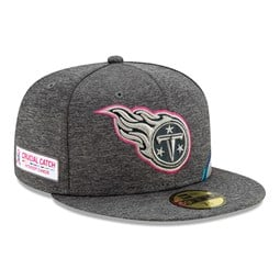 Tennessee Titans Crucial Catch Grey 59FIFTY Cap