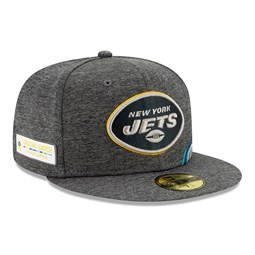 New York Jets Crucial Catch Grey 59FIFTY Cap