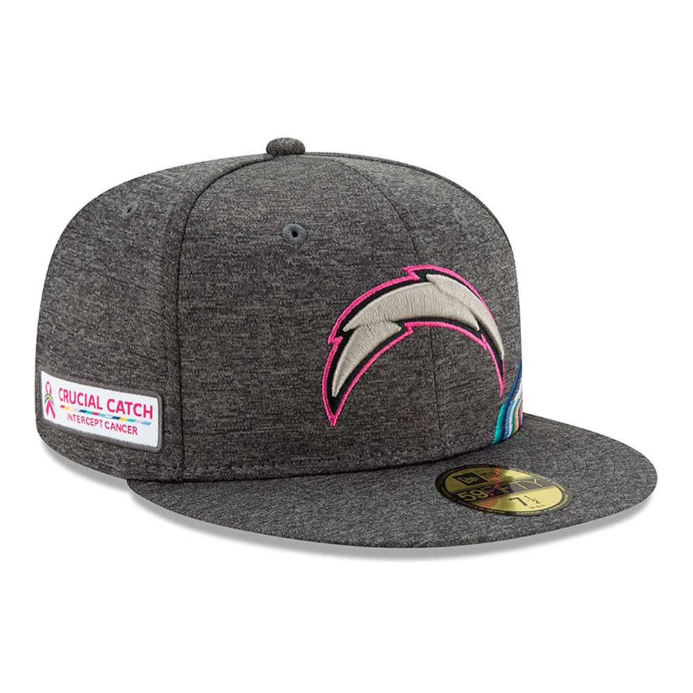 Los Angeles Chargers Crucial Catch Grey 59FIFTY Cap