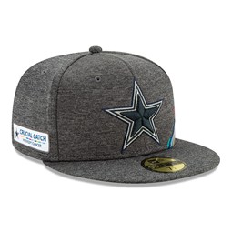 Dallas Cowboys Crucial Catch Grey 59FIFTY Cap