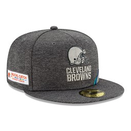 Cleveland Browns Crucial Catch Grey 59FIFTY Cap
