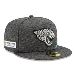 Jacksonville Jaguars Crucial Catch Grey 59FIFTY Cap