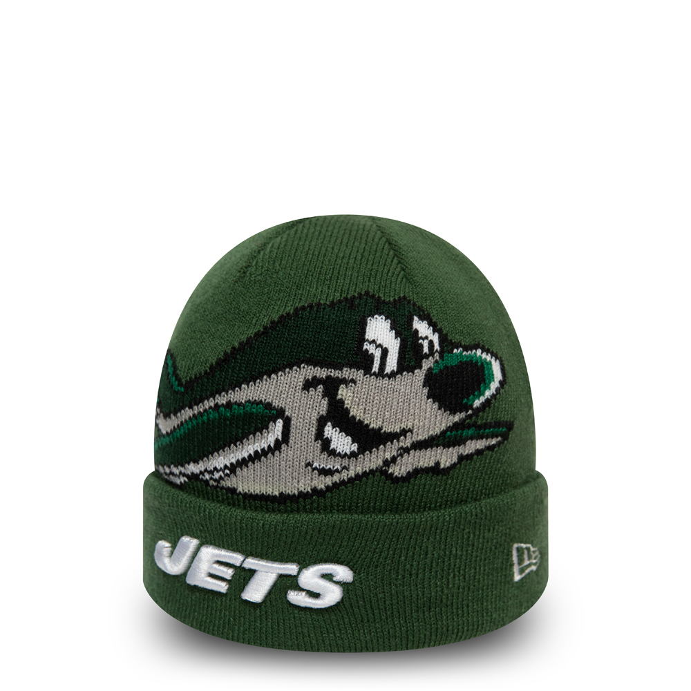 New York Jets Mascot Kids Green Cuff Knit