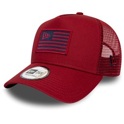 New Era Flag Red Trucker Cap