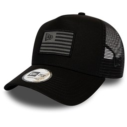 New Era Grey Flag Black Trucker Cap