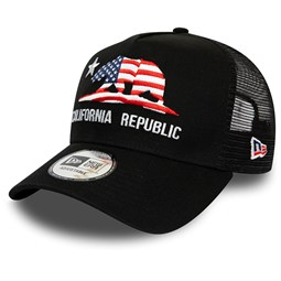 New Era Black California Flag Trucker Cap