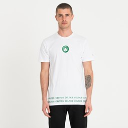 Boston Celtics Wrap Around White Tee