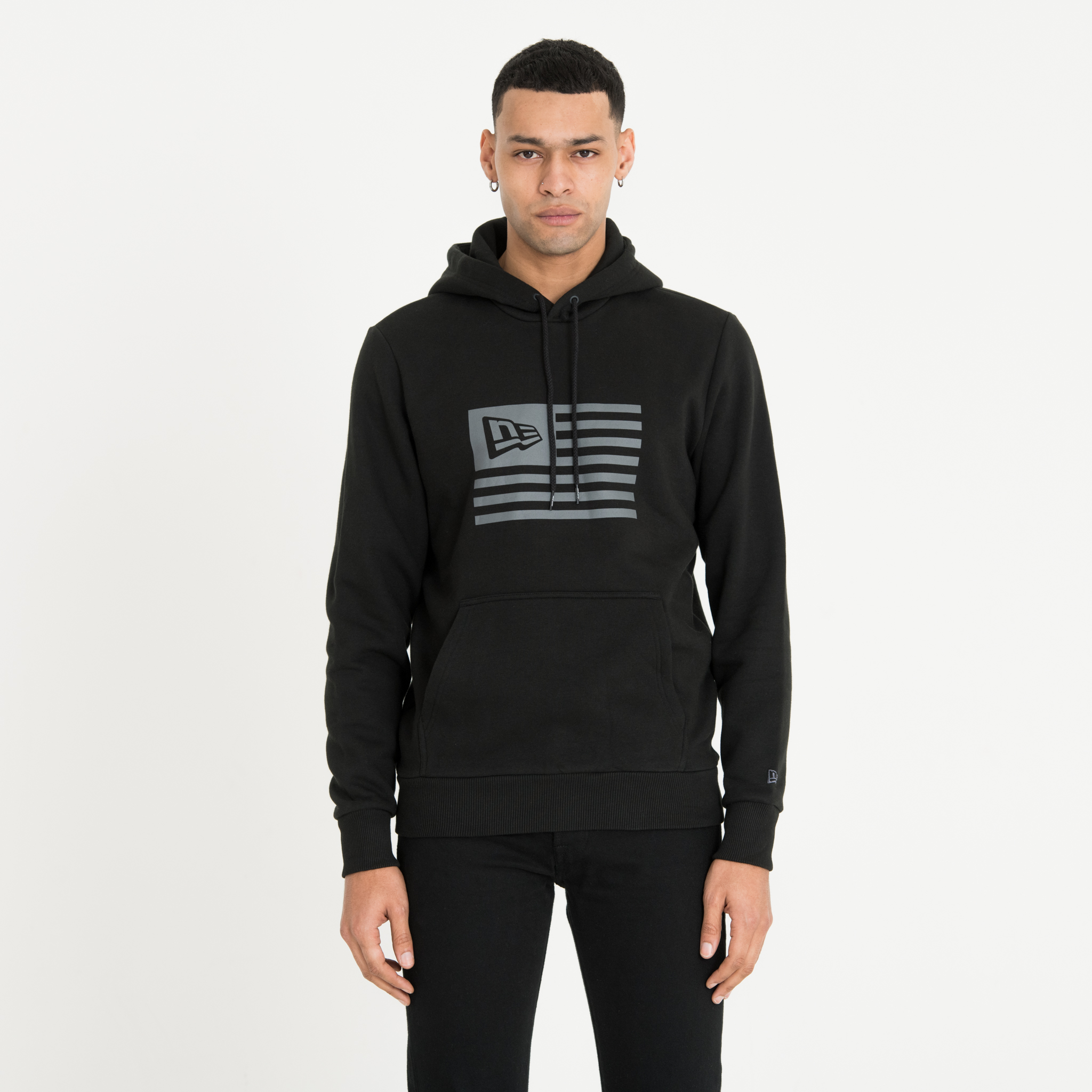 New Era Flagged Black Pullover Hoodie