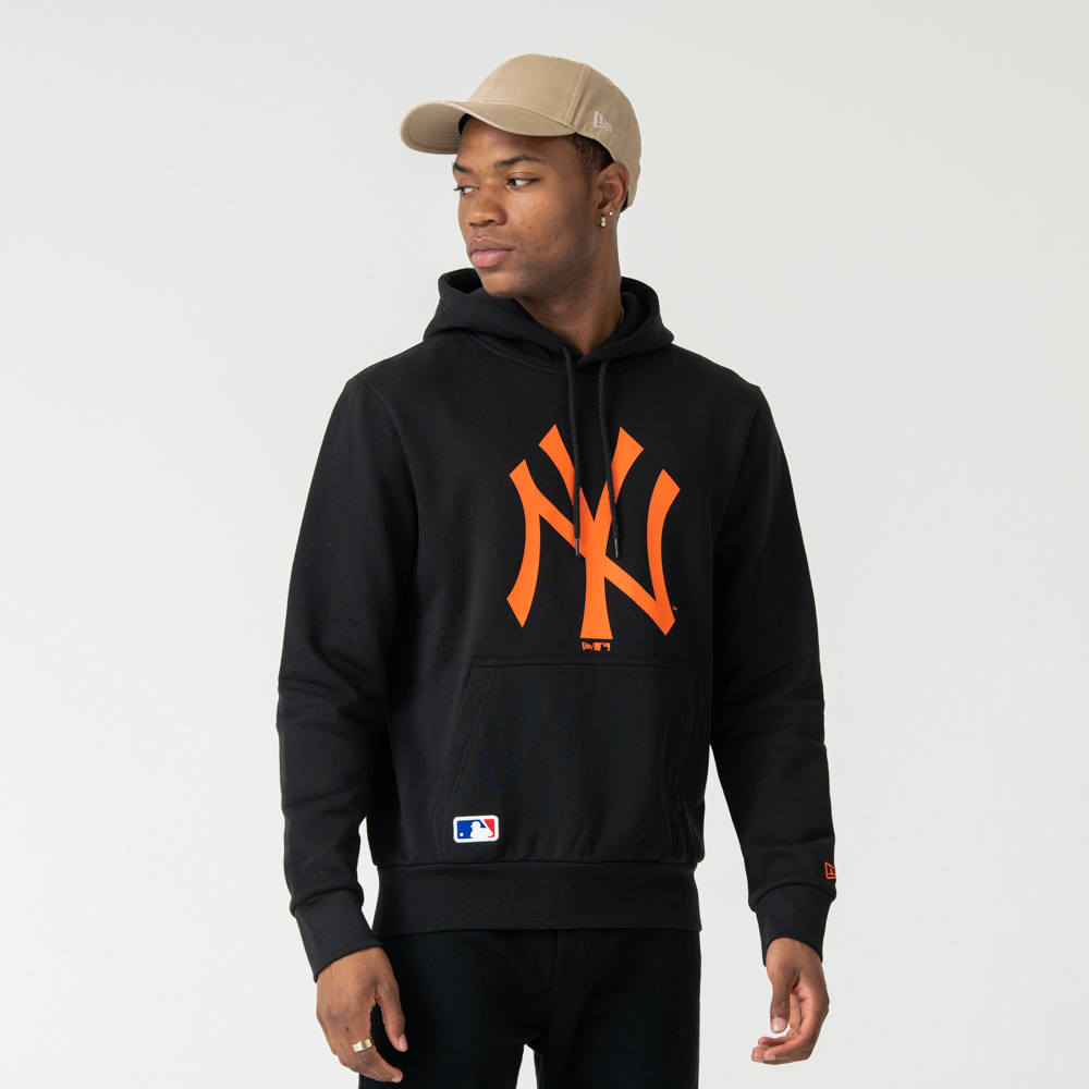 New York Yankees Orange Logo Pullover Hoodie