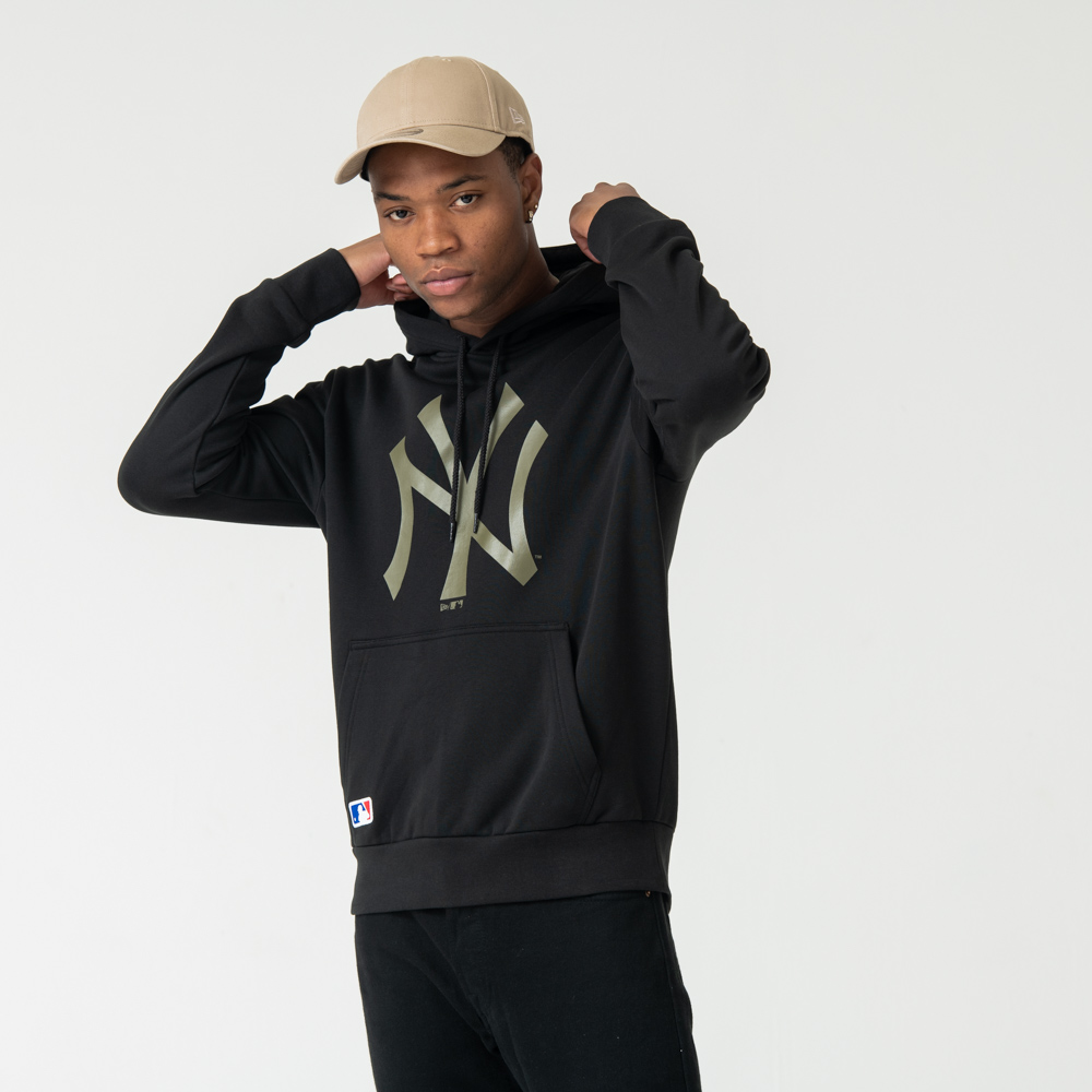 New York Yankees Green Logo Pullover Hoodie