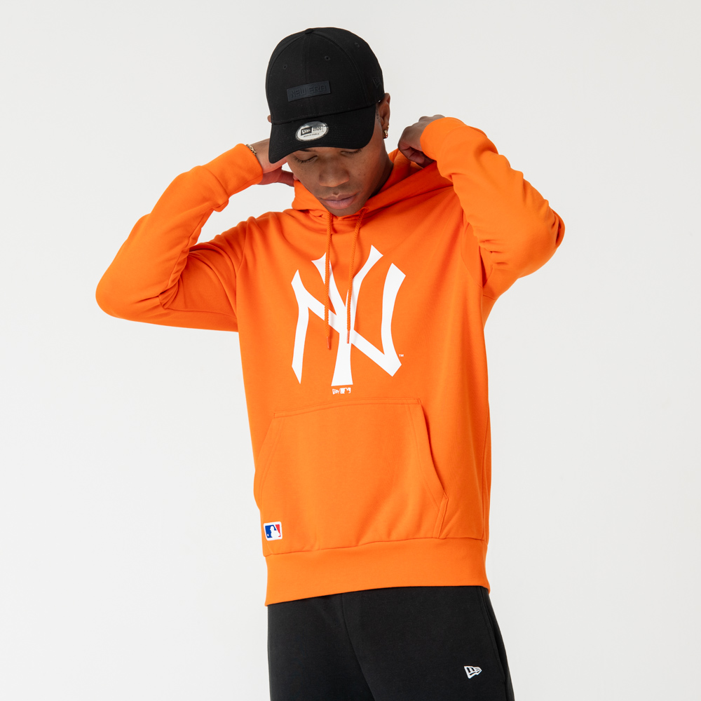 New York Yankees Orange Pullover Hoodie