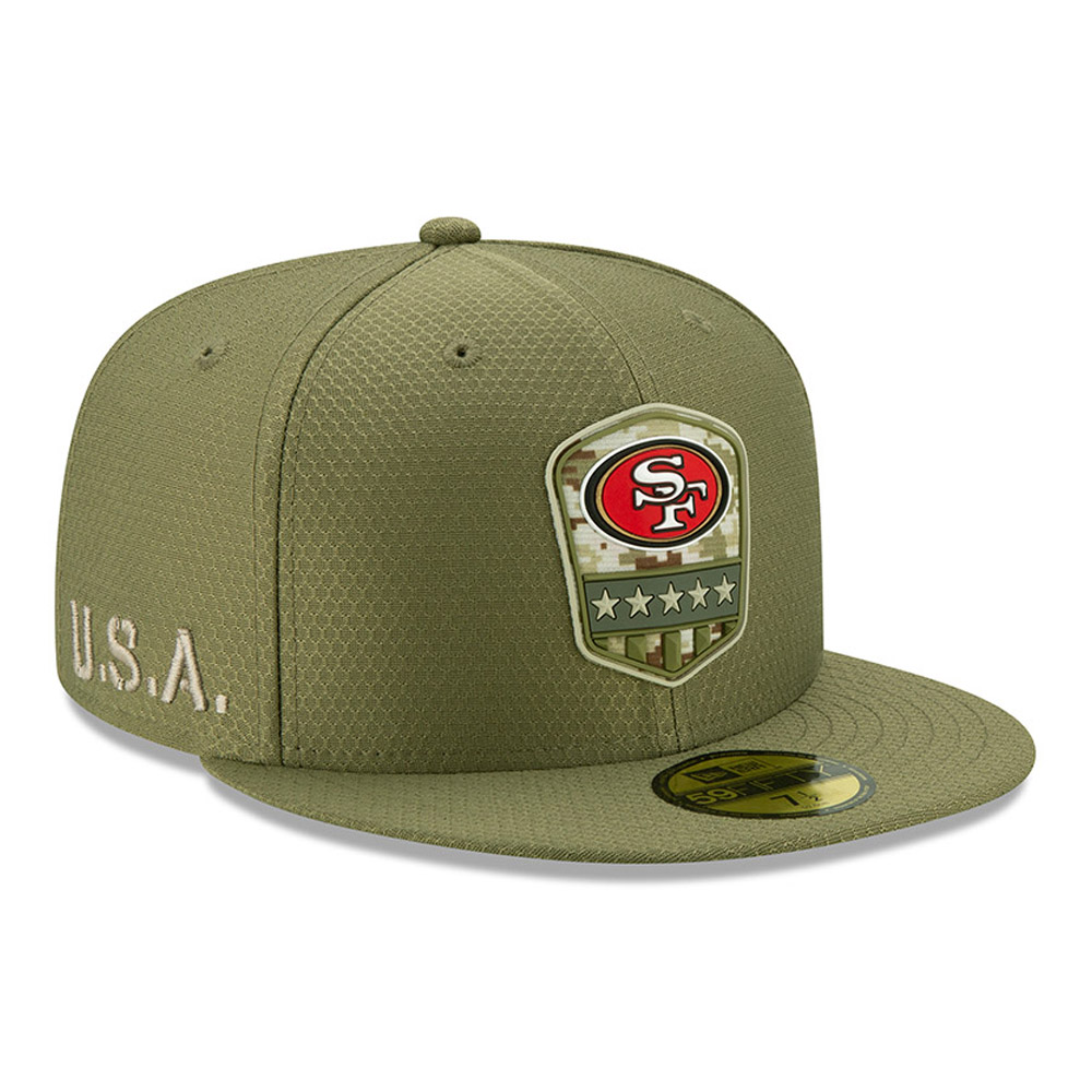 San Francisco 49ERS Salute To Service Green 59FIFTY Cap